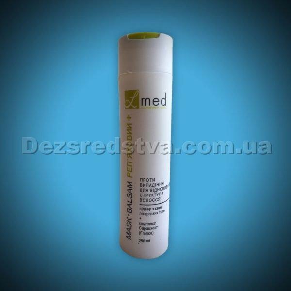 """Бальзам-маска проти випадіння та для відновлення структури волосся """"Реп'яховий+"""" на відварі з лікарських трав серії """"L-MED"""", 250 мл"""
