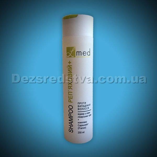 """Шампунь проти випадіння волосся """"Реп'яховий+"""" на відварі з лікарських трав серії  L-MED, 250 мл"""