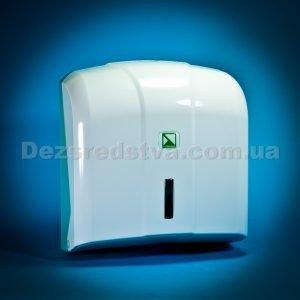 Диспенсер, дозатор, тримач для рушників z- типу (білий) з рушниками